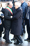 Funeral of Antonio Megalizzi in Trento, on December 20, 2018. Antonio Megalizzi is the 29-year-old Italian journalist who died after being wounded in the attack in Strasbourg, France on the evening of 11 December 2018. Mayor of Trento welcomes the President of the Italian Republic, Sergio Matarella