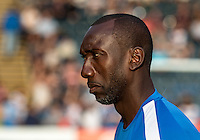 Manager Jimmy Floyd Hasselbaink of QPR during the Pre-Season Friendly match between Wycombe Wanderers and Queens Park Rangers at Adams Park, High Wycombe, England on the 22nd July 2016. Photo by Liam McAvoy / PRiME Media Images.