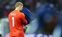 FUSSBALL  EUROPAMEISTERSCHAFT 2012   HALBFINALE Deutschland - Italien              28.06.2012 Torwart Manuel Neuer (Deutschland) enttaeuscht