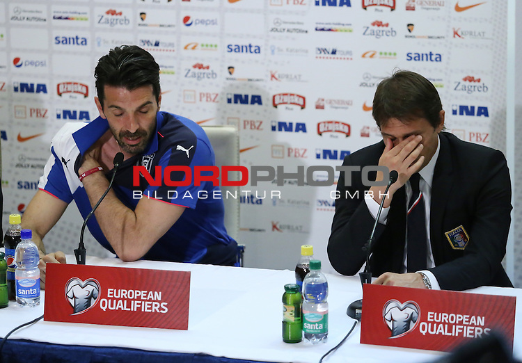 11.06.2015., Croatia, Split - Press conference of the Italian national football team before the qualifying matches against Croatia. Selector Antonio Conte and captain Gianluigi Buffon. <br /> Foto &copy;  nph / PIXSELL / Ivo Cagalj