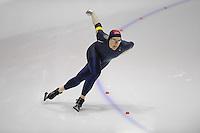 SCHAATSEN: HEERENVEEN: Thialf, 4th Masters International Speed Skating Sprint Games, 25-02-2012, Andrew Love (M40) 2nd, ©foto: Martin de Jong