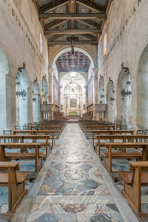 Europe, Italy, Sicily, Syracuse, Syracuse Cathedral Interior