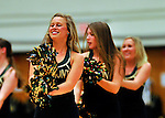 29 January 2012: The University of Vermont Dance Team entertains the fans at a game against the University of New Hampshire Wildcats at Patrick Gymnasium in Burlington, Vermont. The Catamounts defeated the Wildcats 77-60 in America East play. Mandatory Credit: Ed Wolfstein Photo