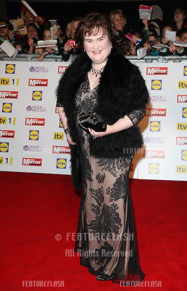 Susan Boyle arriving for the 2012 Pride of Britain Awards, at the Grosvenor House Hotel, London. 29/10/2012 Picture by: Alexandra Glen / Featureflash