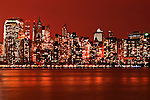 Lights in New York skyline