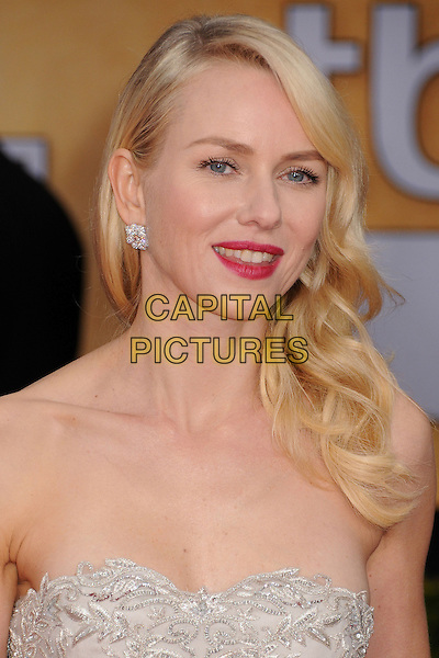 Naomi Watts .Arrivals at the 19th Annual Screen Actors Guild Awards at the Shrine Auditorium in Los Angeles, California, USA..27th January 2013.SAG SAGs headshot portrait grey gray lace strapless pink lipstick .CAP/ADM/BP.©Byron Purvis/AdMedia/Capital Pictures
