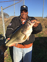 Courtesy photo<br /> Eugene Moore Jr., shows a 10.25-pound largemouth bass he caught at Lake Chicot in southeast Arkansas.