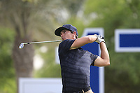 Thorbjorn Olesen (DEN) on the 17th tee during the 3rd round of the DP World Tour Championship, Jumeirah Golf Estates, Dubai, United Arab Emirates. 17/11/2018<br /> Picture: Golffile | Fran Caffrey<br /> <br /> <br /> All photo usage must carry mandatory copyright credit (&copy; Golffile | Fran Caffrey)