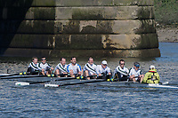 Mortlake/Chiswick, GREATER LONDON. United Kingdom. RV Treviris Trier 1<br /> Rv Treviris Trier (DE), MasB.8+, competing in the 2017 Vesta Veterans Head of the River Race, The Championship Course, Putney to Mortlake on the River Thames.<br /> <br /> <br /> Sunday   26/03/2017<br /> <br /> [Mandatory Credit; Peter SPURRIER/Intersport Images]