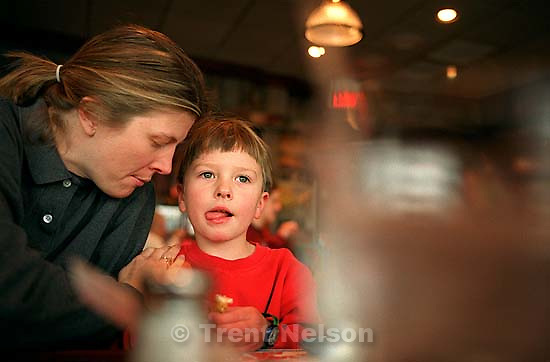 Noah Nelson, Laura Nelson at Red Lobster.<br />