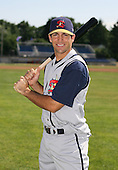 2007:  Michael Ambrose of the State College Spikes poses for a photo prior to a game vs. the Batavia Muckdogs in New York-Penn League baseball action.  Photo copyright Mike Janes Photography 2007.