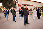 Dr. Robert Hoover, resident archaeologist briefs the workshop participants at Mission San Antonio de Padua, California..Photographed during the 3rd Al Weber Mission Portfolio Workshop, April 2011.