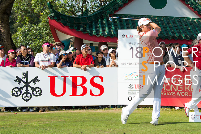 Peter Uihlein of USA tees off during the 58th UBS Hong Kong Golf Open as part of the European Tour on 11 December 2016, at the Hong Kong Golf Club, Fanling, Hong Kong, China. Photo by Marcio Rodrigo Machado / Power Sport Images
