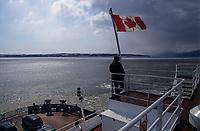 Amérique/Amérique du Nord/Canada/Quebec/Charlevoix : A bord du traversier pour l'Ile-aux-Coudres