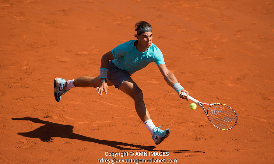 RAFAEL NADAL (ESP)<br /> <br /> Tennis - French Open 2014 -  Toland Garros - Paris -  ATP-WTA - ITF - 2014  - France <br /> 6th June 2014. <br /> <br /> &copy; AMN IMAGES