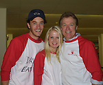 "Guiding Light's Tom Pelphrey (Jonathan), Crystal Hunt (Lizzie)and Jerry verDorn (Ross) at the ""Bloss"" Bowling Event during the Guiding Light weekend on October 15, 2005 at the Port Authority, NY (Photo by Sue Coflin)"