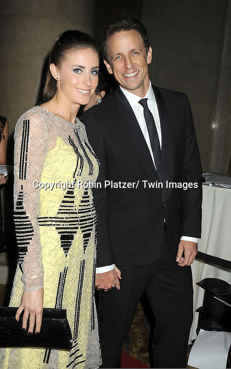 Seth Meyers and Alexi Ashe attends the Fashion Group International's 29th Annual  Night of Stars Gala on October 25, 2012 at Cipriani Wall Street in New York City.