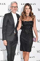 Patrick Cox and Elizabeth Hurley<br /> at the Vogue 100: A Century of Style exhibition opening held in the National Portrait Gallery, London.<br /> <br /> <br /> ©Ash Knotek  D3080 09/02/2016
