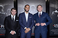"LOS ANGELES - FEB 5:  Alec Skarlatos, Anthony Sadler, Spencer Stone at the ""The 15:17 To Paris"" World Premiere at the Warner Brothers Studio on February 5, 2018 in Burbank, CA"