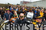 Austin Stacks supporters at the Austin Stacks v Slaughtneil All Ireland Club Football Semi Final in Portlaoise on Sunday.