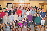POSTMAN FRANK: Frank Lean, Connolly Park, Tralee (seated centre) who retired from An Post after 27 years celebrating with family and friends at Stokers Lodge restaurant and bar on Friday.