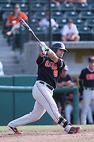 Michael Conforto #8 of the Oregon State Beavers bats against the Southern California Trojans at Dedeaux Field on May 23, 2014 in Los Angeles, California. Southern California defeated Oregon State, 4-2. (Larry Goren/Four Seam Images)