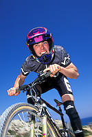 Rob Warner riding Giant bike <br /> Cyprus 1994 team mbuk<br /> pic copyright Steve Behr / Stockfile