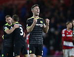 Gary Cahill of Chelsea celebrates the win during the English Premier League match at the Riverside Stadium, Middlesbrough. Picture date: November 20th, 2016. Pic Simon Bellis/Sportimage