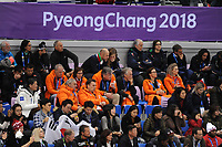 OLYMPIC GAMES: PYEONGCHANG: 17-02-2018, Gangneung Ice Arena, Short Track, Gerard Dielessen (NOC*NSF), André Bolhuis (NOC*NSF), Jeroen Bijl (Chef de Mission), ©photo Martin de Jong