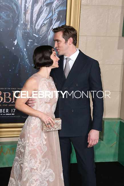 HOLLYWOOD, LOS ANGELES, CA, USA - DECEMBER 09: Evangeline Lilly, Lee Pace  arrive at the World Premiere Of New Line Cinema, MGM Pictures And Warner Bros. Pictures' 'The Hobbit: The Battle of the Five Armies' held at the Dolby Theatre on December 9, 2014 in Hollywood, Los Angeles, California, United States. (Photo by Xavier Collin/Celebrity Monitor)