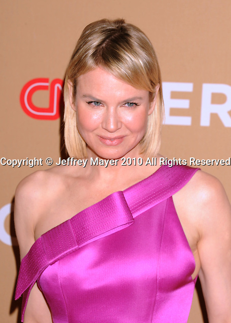 LOS ANGELES, CA. - November 20: Renee Zellweger arrives at the 2010 CNN Heroes: An All-Star Tribute held at The Shrine Auditorium on November 20, 2010 in Los Angeles, California.