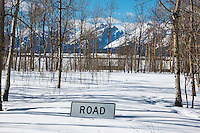 Many of the roads are closed through the winter in Teton National Park.