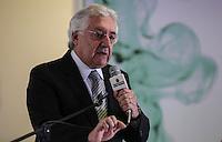 SAO PAULO, SP, 05 MARÇO DE 2013 - LANÇAMENTO EXPO 2020 - Vice governador de Sao Paulo Guilherme Afif durante lançamento da candidatura de São Paulo como sede da Expo 2020, nesta terça-feira, 05. (FOTO: VANESSA CARVALHO / BRAZIL PHOTO PRESS).