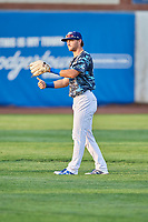Matt Cogen (49) of the Ogden Raptors during a game against the Orem Owlz at Lindquist Field on August 3, 2018 in Ogden, Utah. The Raptors defeated the Owlz 9-4. (Stephen Smith/Four Seam Images)