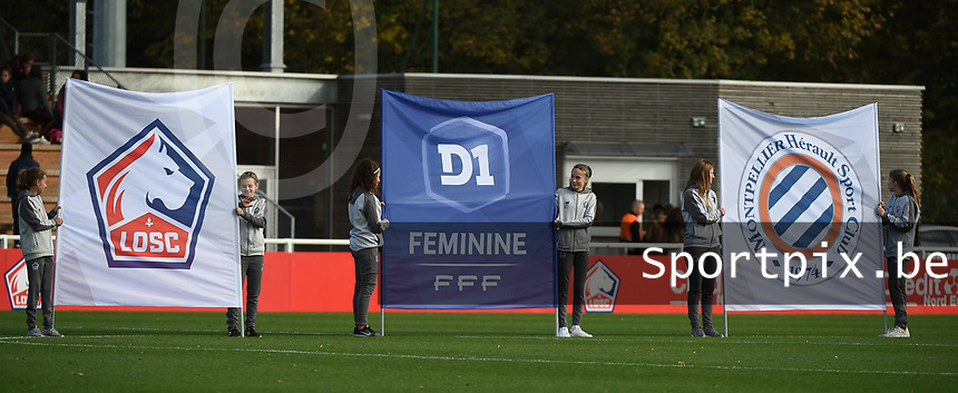 20181027 - CAMPHIN-EN-PEVELE , FRANCE : illustration pictured during the 8 th competition game between the women teams of Lille OSC and Montpellier Herault Sporting Club in the 2018-2019 season of the first Division - Ligue 1 at Domaine de Luchin , Saturday 27th Octobre 2018 ,  PHOTO Dirk Vuylsteke   Sportpix.Be