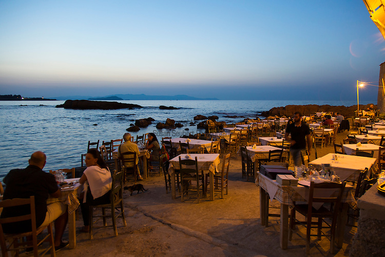 Restaurant Thalassino Ageri in Chania, Crete, Greece, Europe