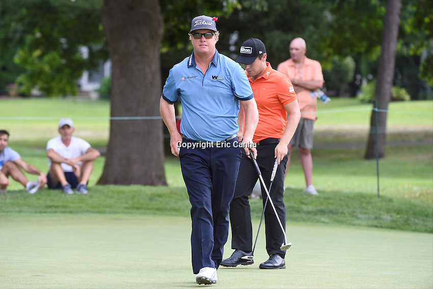 August 6, 2016: Charley Hoffman leaves the eighth green during day three of the PGA Travelers Championship held at TPC River Highlands in Cromwell CT. Eric Canha/CSM