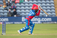 Gulbadin Naib (Afghanistan) plays a straight drive during Afghanistan vs Sri Lanka, ICC World Cup Cricket at Sophia Gardens Cardiff on 4th June 2019