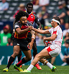 Papua New Guinea vs Tunisia during their HSBC Sevens Wold Series Qualifier match as part of the Cathay Pacific / HSBC Hong Kong Sevens at the Hong Kong Stadium on 27 March 2015 in Hong Kong, China. Photo by Aitor Alcalde / Power Sport Images