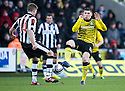CELTIC'S GARY HOOPER CHALLENGES ST MIRREN'S MARC MCAUSLAND