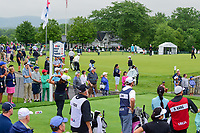 Jennifer Song (USA) watches her tee shot on 16 during Friday's second round of the 72nd U.S. Women's Open Championship, at Trump National Golf Club, Bedminster, New Jersey. 7/14/2017.<br /> Picture: Golffile | Ken Murray<br /> <br /> <br /> All photo usage must carry mandatory copyright credit (&copy; Golffile | Ken Murray)