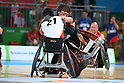Daisuke Ikezaki (JPN), <br /> SEPTEMBER 18, 2016 - WheelChair Rugby : <br /> 3rd place match Japan - Canada  <br /> at Carioca Arena 1<br /> during the Rio 2016 Paralympic Games in Rio de Janeiro, Brazil.<br /> (Photo by AFLO SPORT)