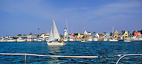 Marina Del Rey, CA, USA, Fishermans Village, Panorama, Main Channel, Sailboat CGI Backgrounds, ,Beautiful Background