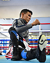 Boxing: Juan Carlos Payano of the Dominican Republic during media workout