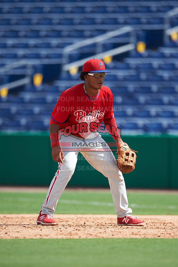 Philadelphia Phillies Luis Encarnacion (22) during an instructional league game against the New York Yankees on September 29, 2015 at Brighthouse Field in Clearwater, Florida.  (Mike Janes/Four Seam Images)
