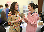Stephanie Swart, left, and Rebecca Richman talk at the annual Western Nevada College Foundation Scholarship Appreciation &amp; Recognition Celebration in Carson City, Nev., on Friday, March 9, 2018. <br /> Photo by Cathleen Allison/Nevada Momentum