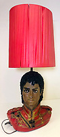 BNPS.co.uk (01202 558833)<br /> Pic: OmegaAuctions/BNPS<br /> <br /> PICTURED: The Sale included a bizarre Michael Jackson lamp which failed to sell.<br /> <br /> The first ever played Beatles record is leading a £75,000 sale of music memorabilia by a veteran radio DJ.<br /> <br /> Tony Prince worked for Radio Luxembourg which was the first to give air time to the Fab Four.<br /> <br /> On the evening of October 5, 1962, the pirate radio station broadcast the 7in single. <br /> <br /> It was the first time the people of the UK got to hear the ground-breaking music of The Beatles.