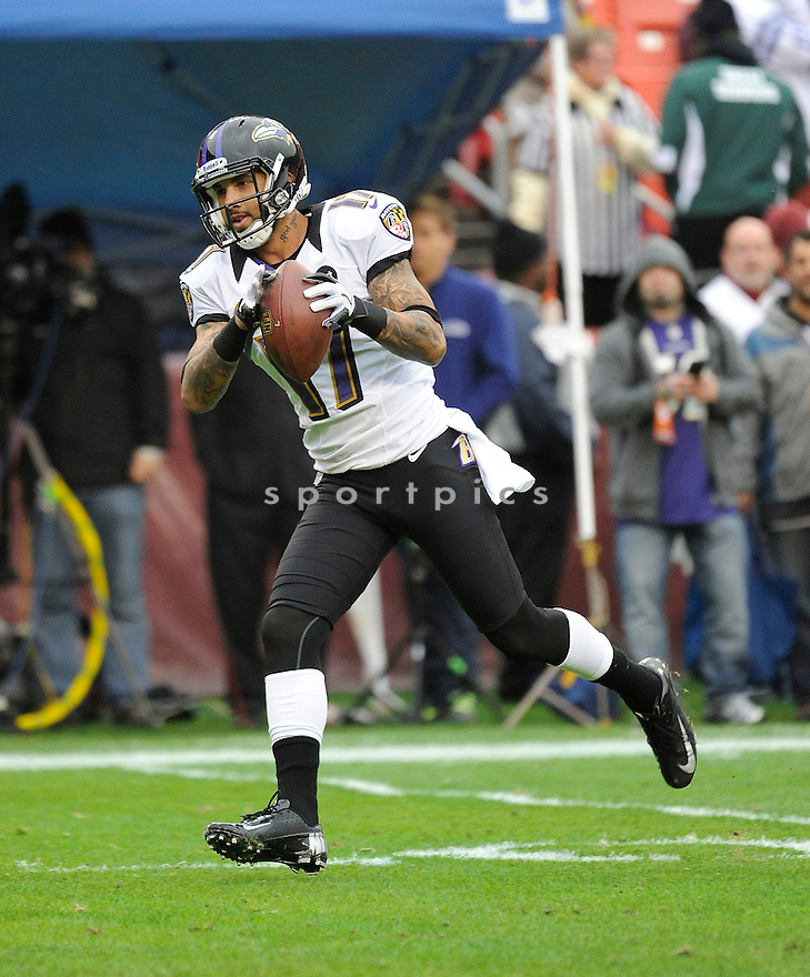 Baltimore Ravens Tandon Doss (17) in action during a game against the Redskins on December 9, 2012 at FedExField in Washington, DC. The Redskins beat the Ravens 31-28.