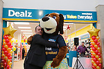 Aiden Conlon gets a big hug from Dougie at the opening of the Dealz new store in Mulling Co West Meath.<br /> <br /> Picture Newsfile/Professional Images