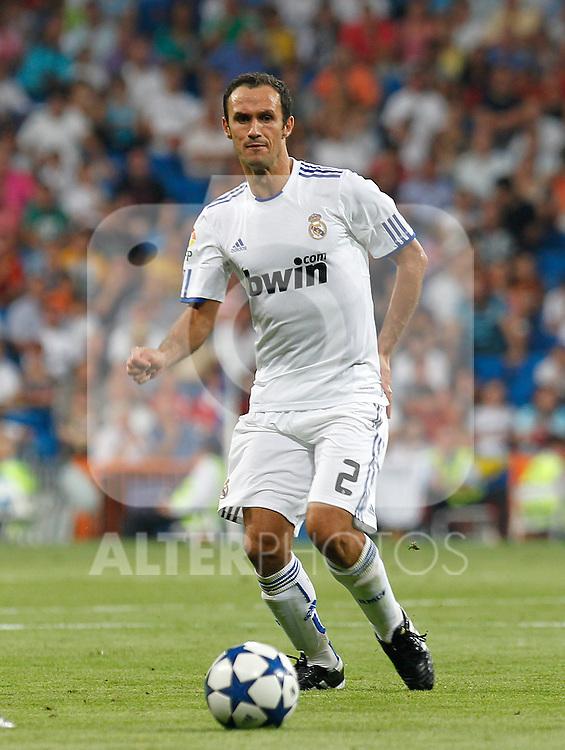 Madrid (24/08/10).-Estadio Santiago Bernabeu..XXXII Trofeo Santiago Bernabeu..Real Madrid 2- Penarol 0..Ricardo Carvalho...© Alex Cid-Fuentes/ALFAQUI